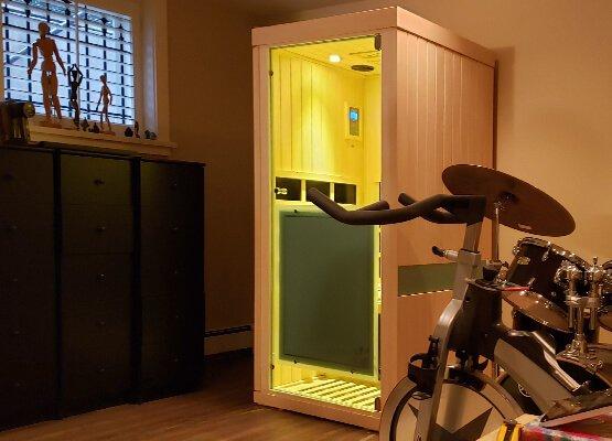 Evolve 10 Sauna in Living Room
