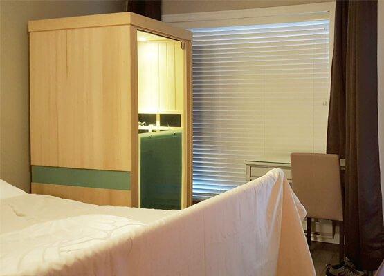 Evolve 10 Sauna in Bedroom