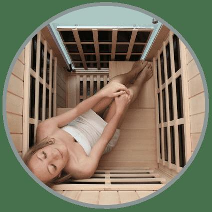 Evolve 10 Sauna top view