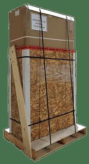 expédition de caisse de palette de mini sauna