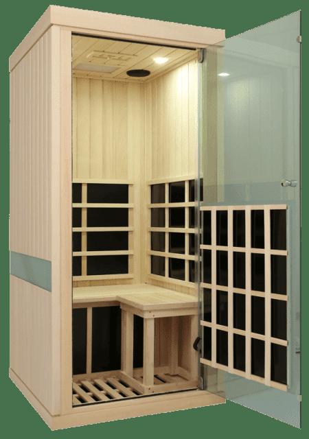 Evolve 10 Sauna Door Open